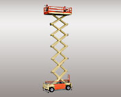 JLG 245-25. Lifts with height of elevating from 8 to 26 meters